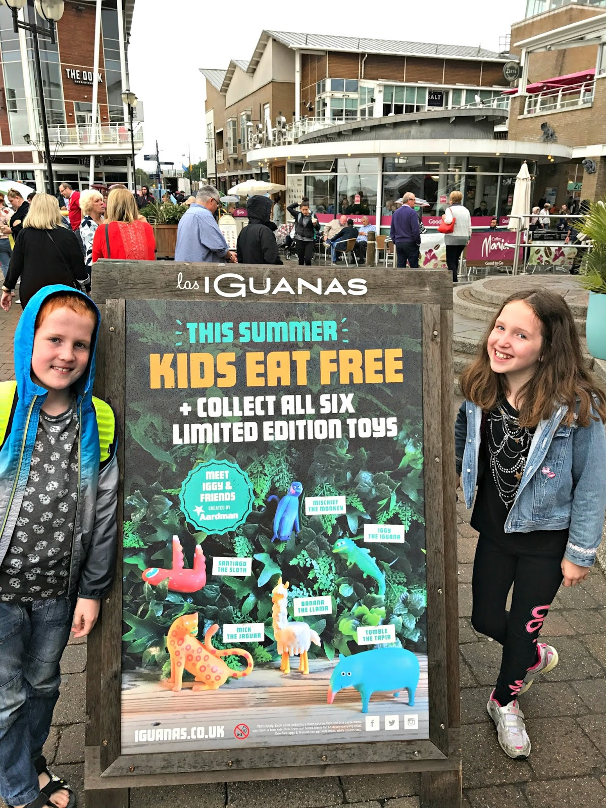 Caitlin & Ieuan outside Las Iguanas Mermaid Quay, Cardiff bay