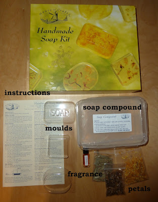 Making simple homemade soap