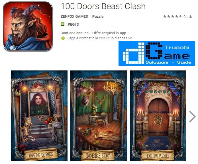 Soluzioni 100 Doors Beast Clash livello 41 42 43 44 45 46 47 48 49 50 | Trucchi e Walkthrough level