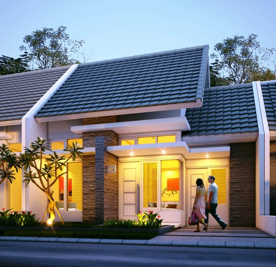 Desain Rumah 1 Lantai Type 45 Modern