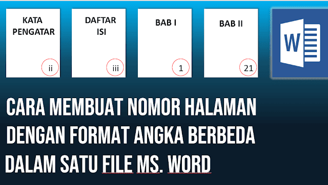 Cara Membuat Nomor Halaman Angka Romawi juga Angka Latin dalam Satu File