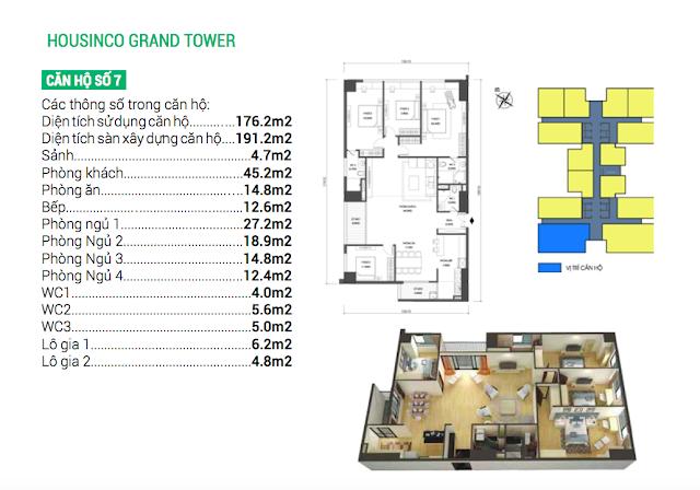 Thiết kế căn hộ số 07 Housinco Grand Tower