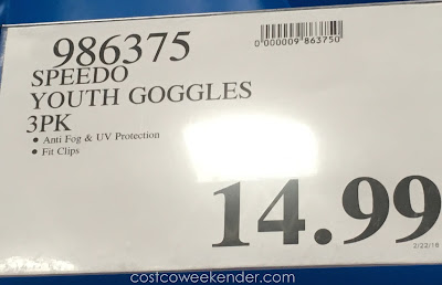 Deal for the Speedo Junior Swimming Goggles Set at Costco