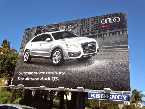 Audi Q3 Outmaneuver ordinary car billboard