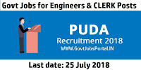 PUDA Recruitment 2018