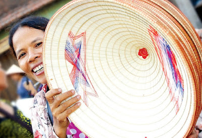 Conical hat market - unique culture in Vietnam's villages