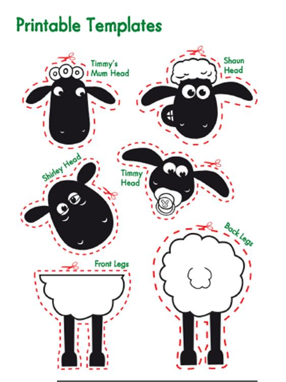 image about Sheep Printable identified as Belajar Bersama: Ini dia printable shaun the sheep
