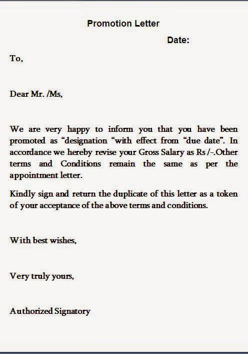 promotion letters markushenritk