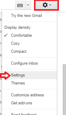 click on the settings icon