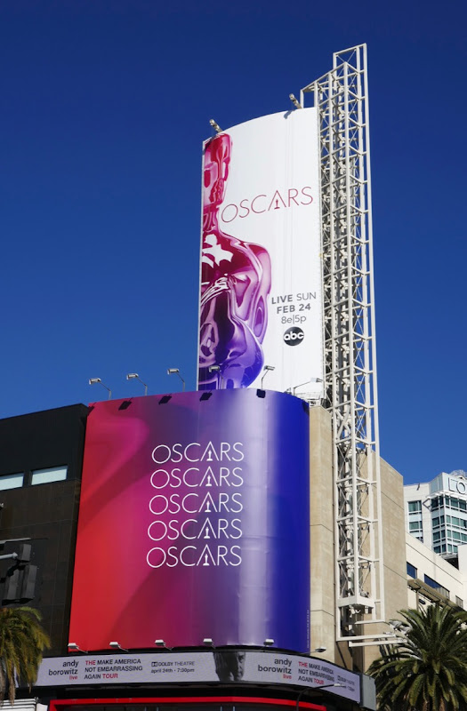 91st Oscars billboard Hollywood
