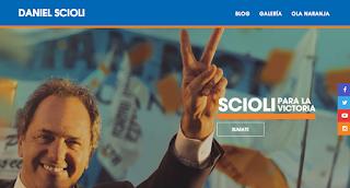 Página de campaña de Daniel Scioli