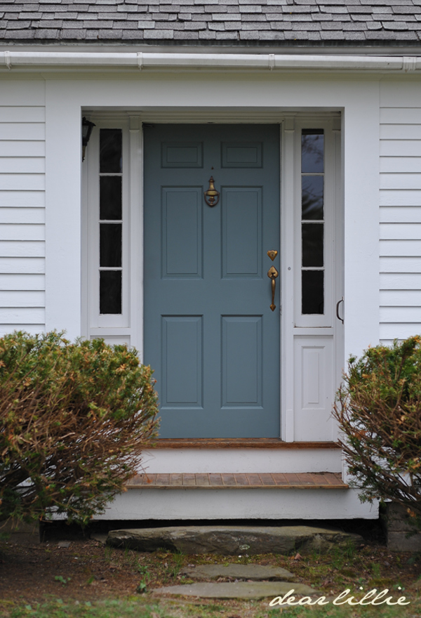 Dear lillie jason 39 s new front door color - Blue front door colors ...