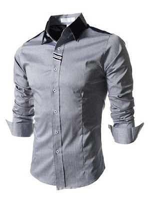 Epidemic Lapel Single-Breasted Men's Shirt