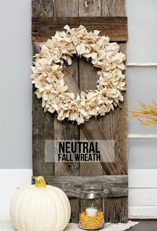 Drop Cloth Wreath