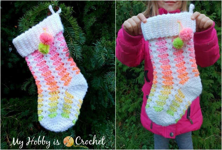 Dreamy Christmas Stocking - Free Crochet Pattern + Tutorial