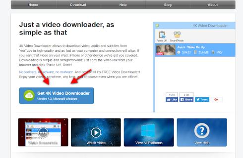 برنامج 4K Video Downloader لتحميل فديوهات اليوتيوب