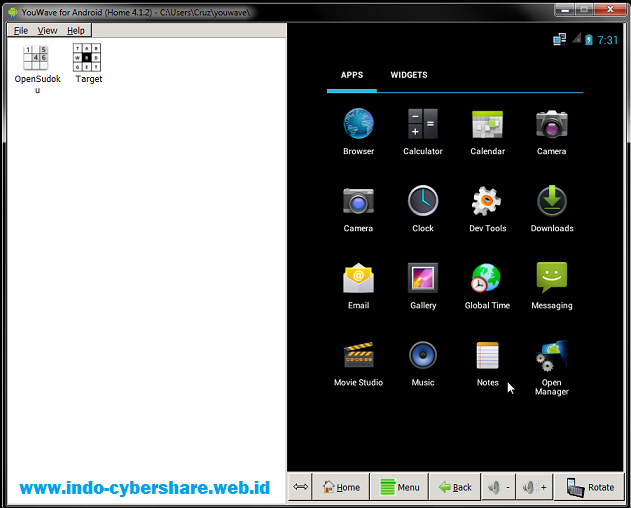 YouWave Emulator Android (Alternatif Bluestacks)