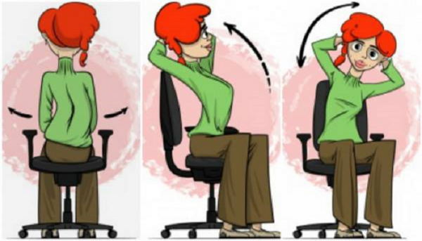 Exercises To Eliminate Back Pain, While Sitting Still!