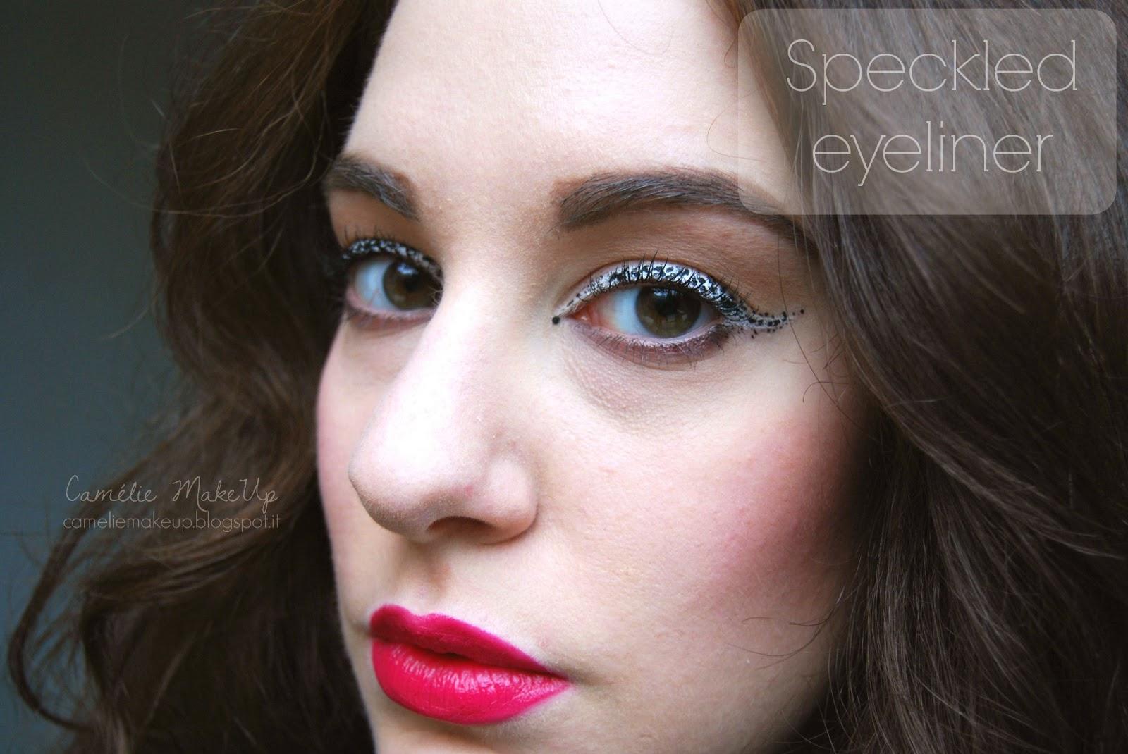 Illamasqua inspired: Speckled Eyeliner Look con prodotti facili da reperire