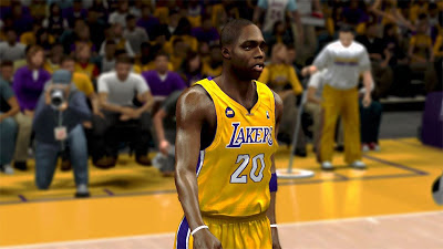 NBA 2K13 Jodie Meeks Cyberface LA Lakers 2K Update