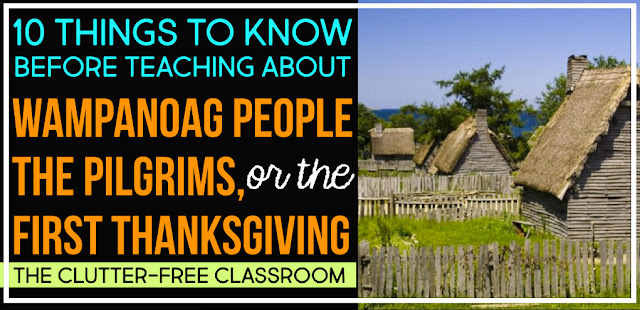 Pilgrims Wampanoags And The First Thanksgiving Clutter