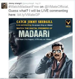 VMate Uses Innovative Danmaku Chat for Madaari's Online Release