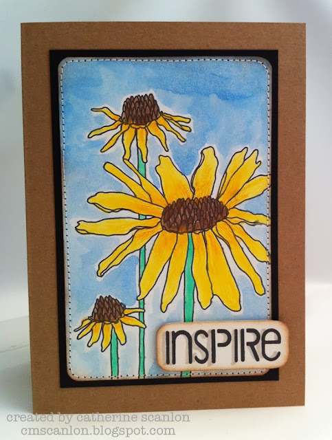 Black Eyed Susan stamp (Cling Stamp AGC1-2692) by Catherine Scanlon from Art Gone Wild and Friends