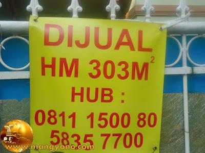 Rumah DIJUAL ... HM ... 303M .. HUB 0811 1500 80 atau 021 5835 7700