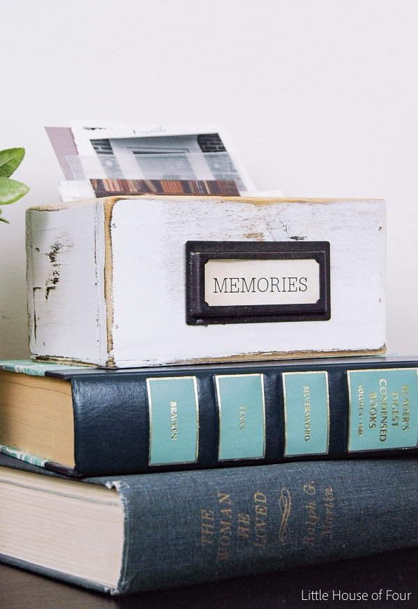Easy photo memory box - littlehouseoffour.com
