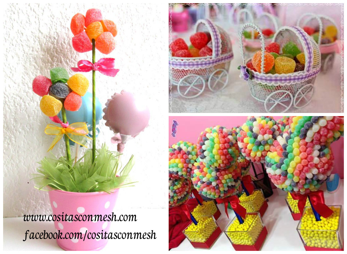 Ideas de manualidades y centros de mesa con gomitas dulces for Ideas faciles decoracion