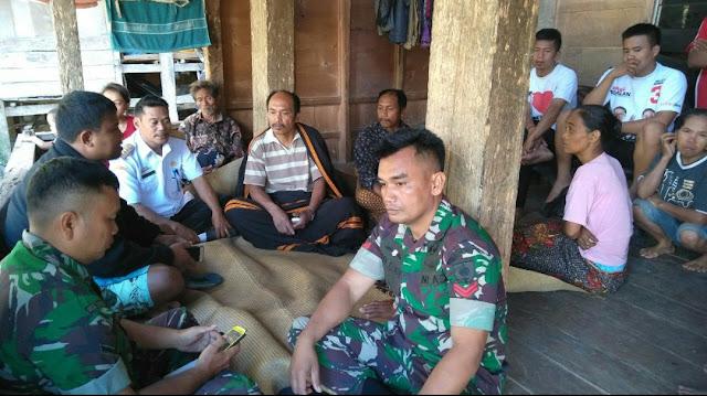 Koramil 1414-03 Rindingallo, Datangi Rumah Orangtua Korban Penembakan di Nduga, Papua