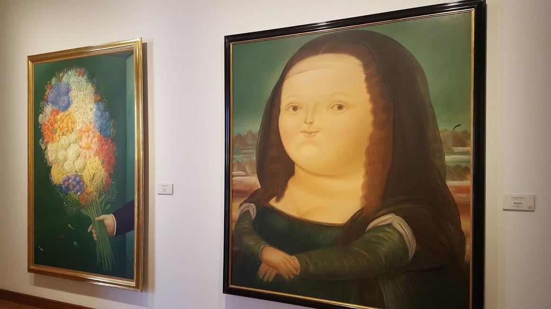 Obras de Botero no Museu Fernando Boterio no Centro Histórico - Bogotá