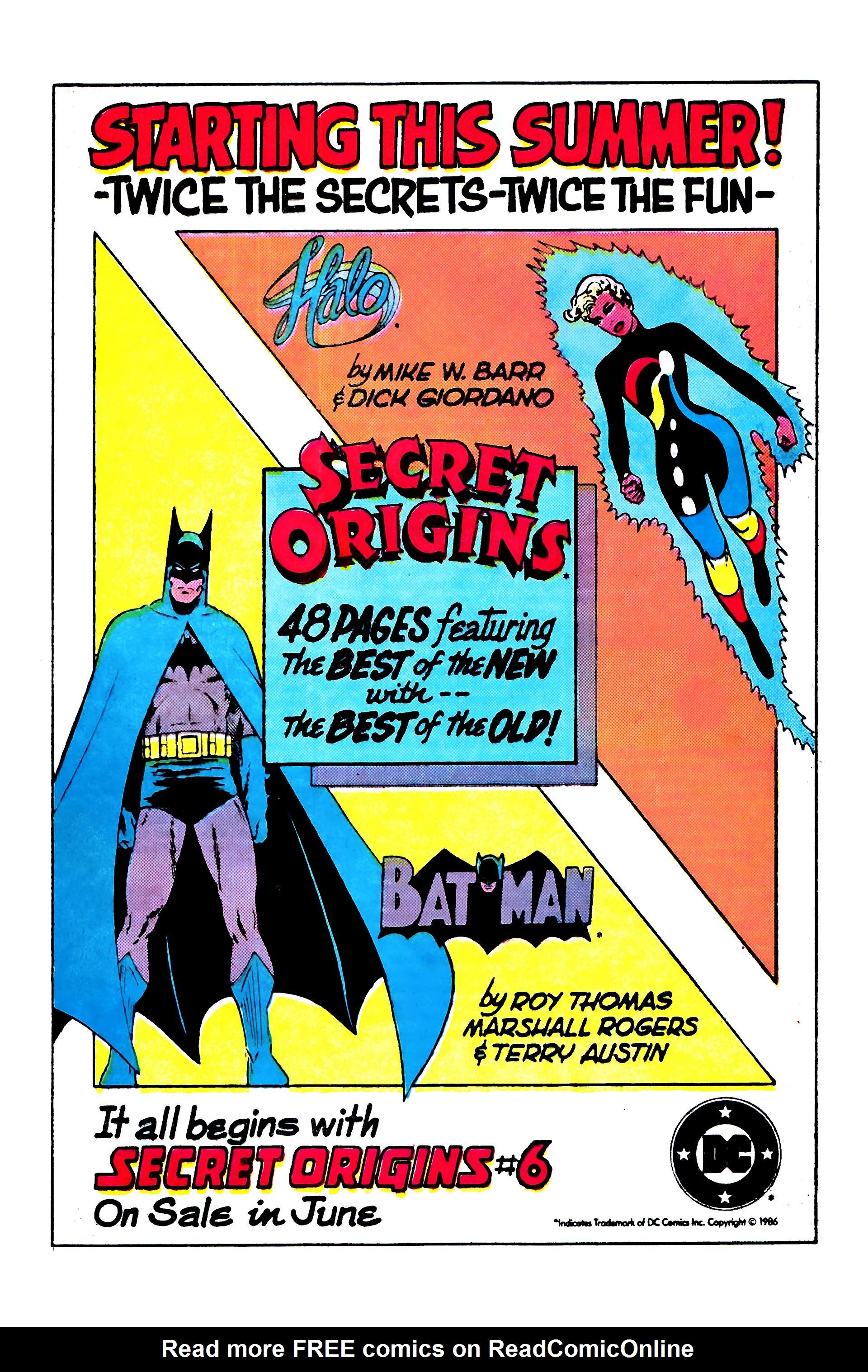 Read online Secret Origins (1986) comic -  Issue #5 - 29