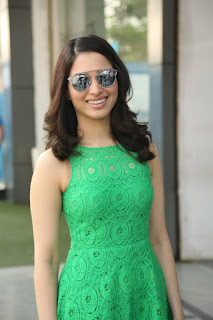 Actress Tamanna Pictures in Green Lace Dress during Oopiri Song Release at Radio City  0003.jpg