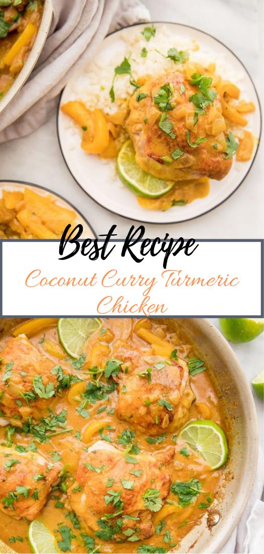 Coconut Curry Turmeric Chicken #dinnerrecipe #food