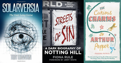 Top 10, Lists, Books, 2016, Solarversia, Toby Downton, Streets of Sin, Notting Hill, Fiona Rule, The Curious Charms of Arthur Pepper, Phaedra Patrick, The Writing Greyhound, Lorna Holland