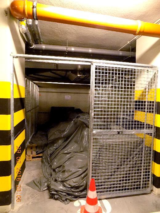Realizacja boksów w garażu podziemnym na ul. Chmielnej w Warszawie.