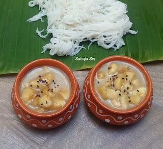 Banana Salad with Coconut Milk