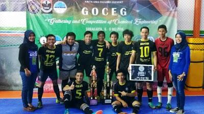 Futsal Tekim Undip Juara 1 GOCEG Se-Jateng & DIY