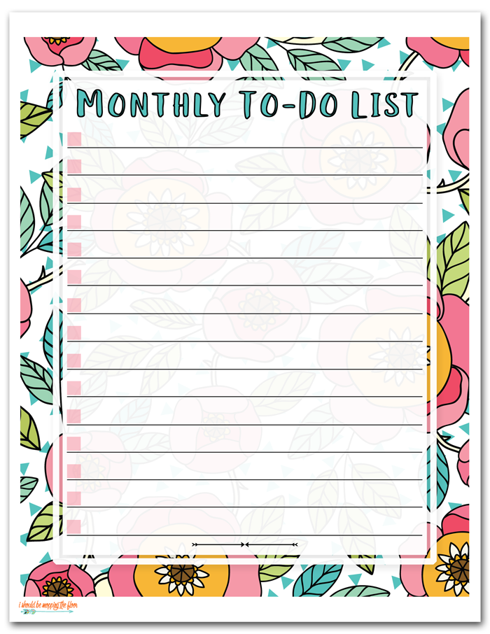 i should be mopping the floor: Free Printable To Do List