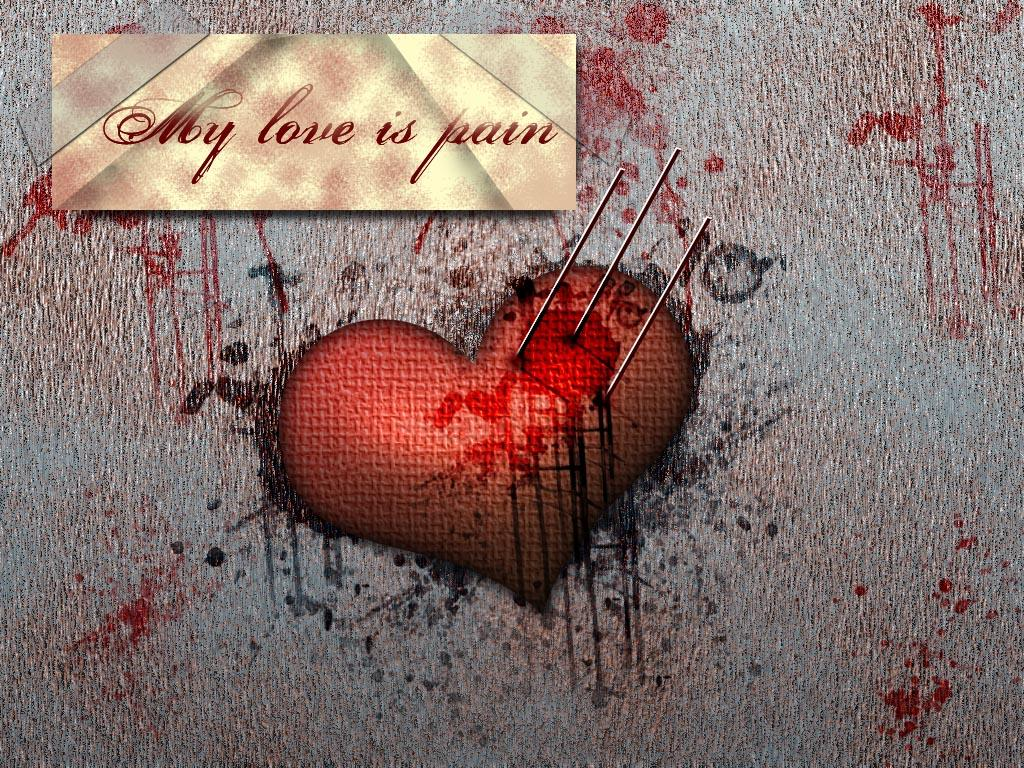 Wonderful My Love Is Pain It Hurts Wallpaper Image