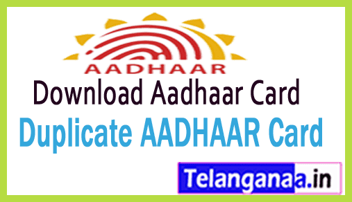 Download Aadhaar Card Online EAADHAAR Card Download - Duplicate AADHAAR Card