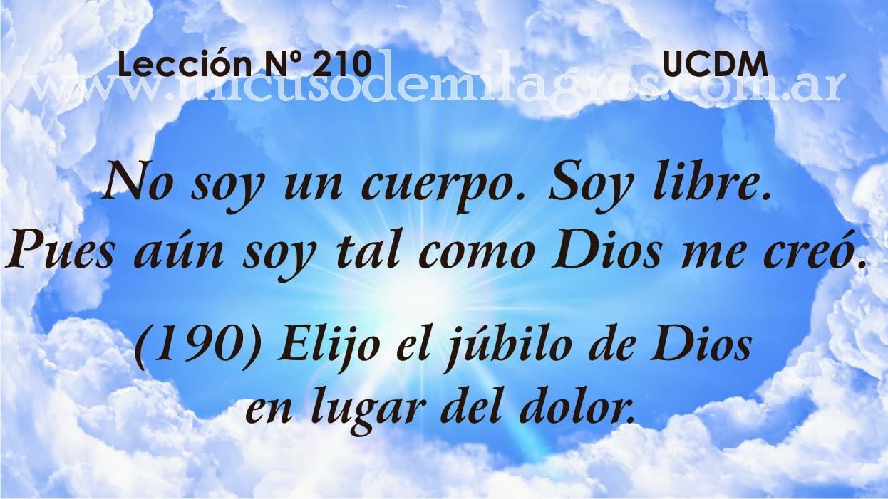 Leccion 210, Un Curso de Milagros