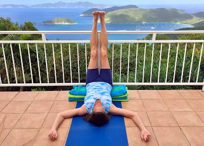 yoga pose viparita karani  claudia cummins