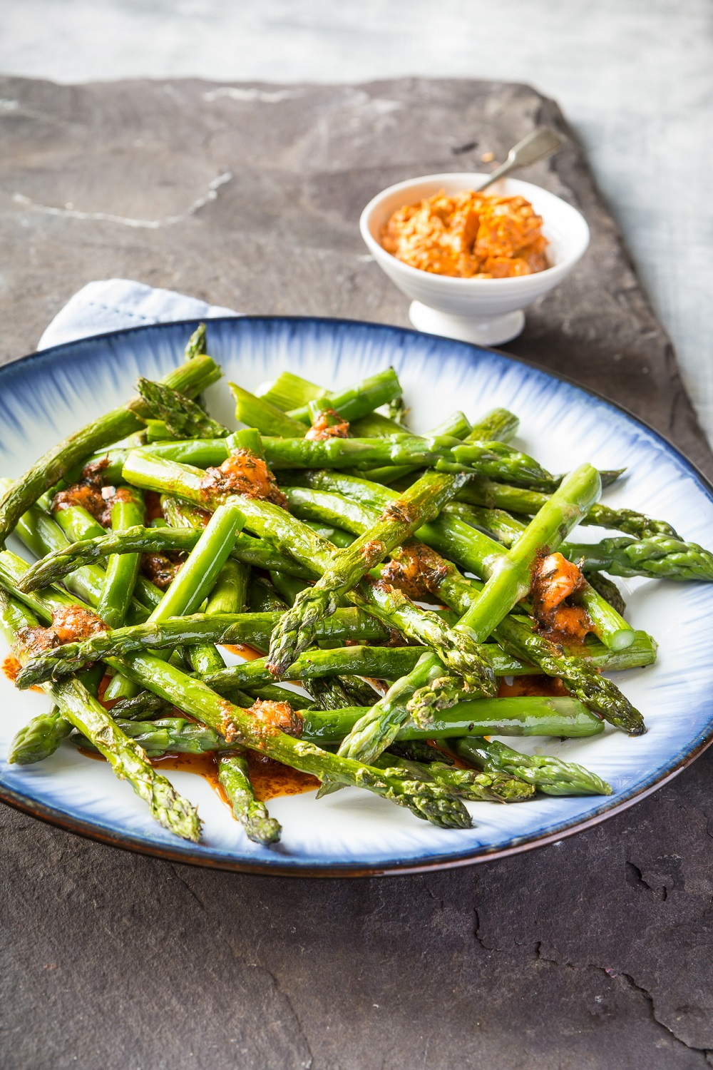 Roast British Asparagus With Smoked Paprika And Thyme Butter