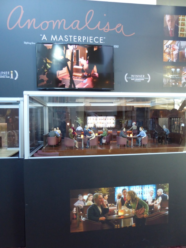 Anomalisa stop-motion animation set exhibit