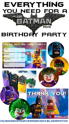 Lego Batman Party printables