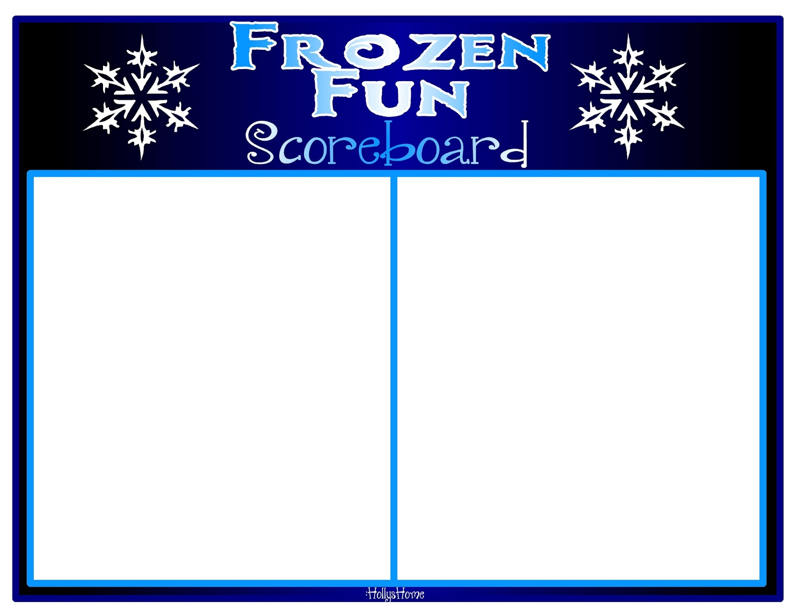 HollysHome Family Life: Frozen Fun Minute -to-Win-it Games