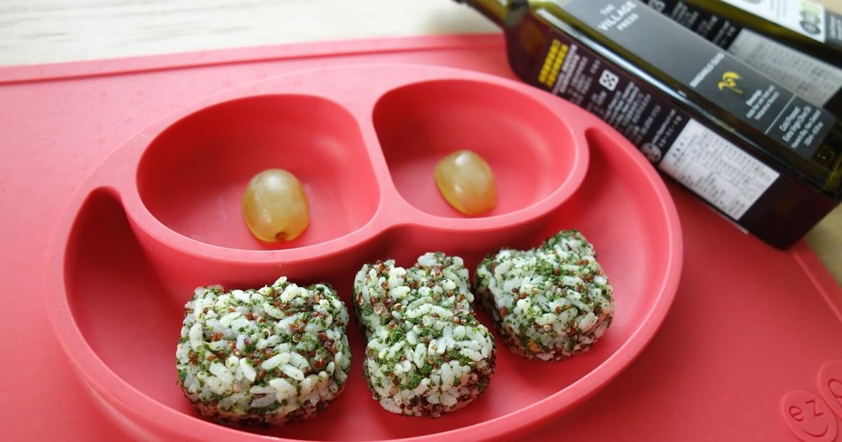 K力's 幸福芳程式: 【 副食品 】11M寶寶手指食物 - 翡翠飯糰