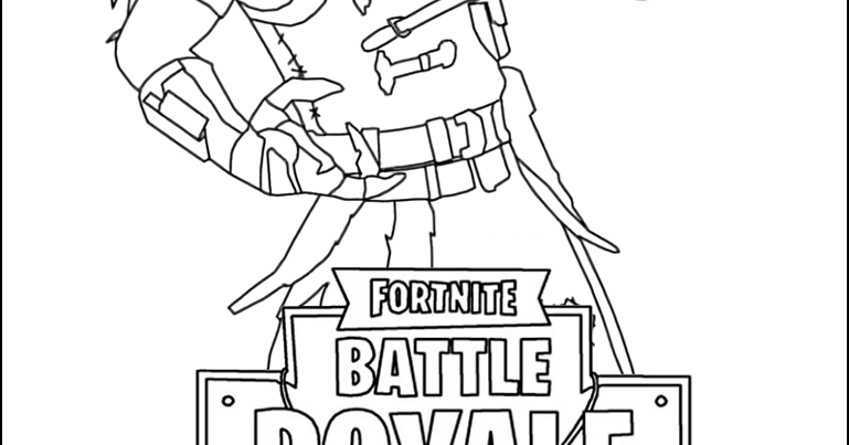Fortnite Skins Coloring Pages Omega